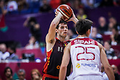 5th September 2017, Fenerbahce Arena, Istanbul, Turkey; FIBA Eurobasket Group D; Turkey versus Belgium; Point Guard Sam Van Rossom #5 of Belgium with a ball during the match