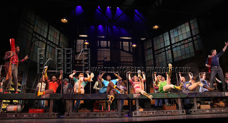 Billy Porter & Stark Sands with ensemble cast performing in the 'Kinky Boots' Broadway Sneak Peek at Al Hirschfeld Theatre on February 28, 2013
