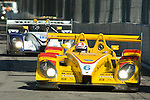 31 August 2007: The Penske Motorsports Porsche RS Spyder, driven by Saascha Maassen (DEU), followed by the Dyson Racing RS Spyder, driven by Butch Leitzinger (USA), at the Detroit Sports Car Challenge presented by Bosch, Detroit, MI