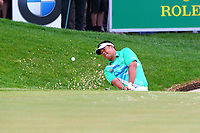 Kiradech Aphibarnrat chips onto the 18th green during the BMW PGA Golf Championship at Wentworth Golf Course, Wentworth Drive, Virginia Water, England on 28 May 2017. Photo by Steve McCarthy/PRiME Media Images.