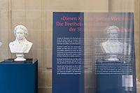 """Beethoven-Ausstellung """"Diesen Kuss der ganzen Welt!"""" in der Staatsbibliothek zu Berlin.<br /> Im Haus Unter den Linden wird eine der weltweit bedeutendsten Sammlungen von Notenhandschriften Ludwig van Beethovens und Autographen vom 11. Maerz bis 30. April 2020 gezeigt.<br /> 10.3.2020, Berlin<br /> Copyright: Christian-Ditsch.de<br /> [NUR FUER REDAKTIONELLE ZWECKE! Werbung nur auf Anfrage beim Fotografen. Inhaltsveraendernde Manipulation des Fotos nur nach ausdruecklicher Genehmigung des Fotografen. Vereinbarungen ueber Abtretung von Persoenlichkeitsrechten/Model Release der abgebildeten Person/Personen liegen nicht vor. NO MODEL RELEASE! Don't publish without copyright Christian-Ditsch.de, Veroeffentlichung nur mit Fotografennennung, sowie gegen Honorar, MwSt. und Beleg. Konto: I N G - D i B a, IBAN DE58500105175400192269, BIC INGDDEFFXXX, Kontakt: post@christian-ditsch.de<br /> Bei der Bearbeitung der Dateiinformationen darf die Urheberkennzeichnung in den EXIF- und  IPTC-Daten nicht entfernt werden, diese sind in digitalen Medien nach §95c UrhG rechtlich geschuetzt. Der Urhebervermerk wird gemaess §13 UrhG verlangt.]"""