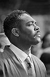 """Rodney King giving his """"can't we all just get along"""" speech..Los Angeles has undergone several days of rioting due to the acquittal of the LAPD officers who beat Rodney King..Hundreds of businesses were burned to the ground and over 55 people have been killed."""