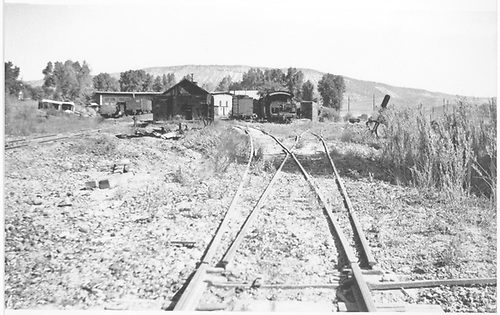 Stud switch connected to depot track, which was RGS mainline that went past Ridgway station building.<br /> RGS  Ridgway, CO