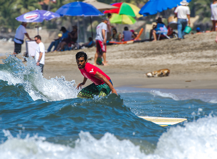 Fine Art Print, Action, Photograph of a surfer catching the waves at Sayulita, beach in Nayarit, Mexico.