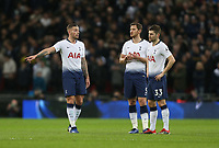Tottenham Hotspur's Toby Alderweireld, Jan Vertonghen and Ben Davies in discussion<br /> <br /> Photographer Rob Newell/CameraSport<br /> <br /> The Premier League - Tottenham Hotspur v Manchester United - Sunday 13th January 2019 - Wembley Stadium - London<br /> <br /> World Copyright &copy; 2019 CameraSport. All rights reserved. 43 Linden Ave. Countesthorpe. Leicester. England. LE8 5PG - Tel: +44 (0) 116 277 4147 - admin@camerasport.com - www.camerasport.com