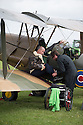 01/07/15<br /> <br /> Injured veteran gets ready for Tiger Moth flight.<br /> <br /> *** FULL STORY HERE: <br /> http://www.fstoppress.com/articles/flying-for-heroes/  ***<br /> <br /> A special aircraft adapted to be flown by wounded, injured and sick servicemen took to the skies for the first time above Britain today.<br /> <br /> The two-seater para-trike is one of three similar aircraft operated by Flying For Heroes that are currently based at Darley Moor Airfield, Ashbourne, Derbyshire.<br /> <br /> Ten wounded servicemen took to the controls of this, and many other aircraft, during a two-day flying training camp hosted by Airways Airsports.<br /> <br /> *** FULL STORY HERE:  http://www.fstoppress.com/articles/flying-for-heroes/  ***<br /> <br /> All Rights Reserved: F Stop Press Ltd. +44(0)1335 418629   www.fstoppress.com.