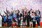 15TH MAY 2011, KILMARNOCK V RANGERS, RUGBY PARK, KILMARNOCK, WALTER SMITH LIFTS THS SPL TROPHY AS RANGERS ARE CROWNED CHAMPIONS 2010/11, ROB CASEY PHOTOGRAPHY.