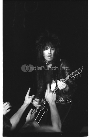 MOTLEY CRUE performing live at The Country Club in Reseda, CA USA in 1981.  Photo © Kevin Estrada / Media Punch
