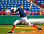 3 March 2009: Washington Nationals' starting pitcher John Lannan on the mound against Italy in a Spring Training exhibition game at Space Coast Stadium in Viera, Florida. The Nationals defeated Italy 9-6. Mandatory Photo Credit: Ed Wolfstein Photo