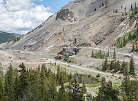 Madonna Mine on Monarch Pass in Colorado, Thursday, July 9, 2015. At 10,751 feet, the primary minerals mined are zinc, lead, and silver.<br /> <br /> Photo by Matt Nager