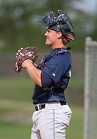 Cleveland Indians minor leaguer David Wallace during Spring Training at the Chain of Lakes Complex on March 16, 2007 in Winter Haven, Florida.  (Mike Janes/Four Seam Images)