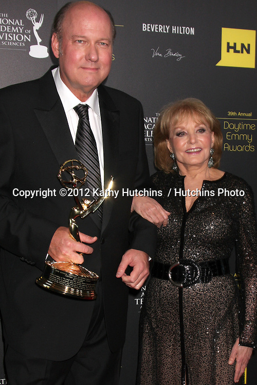 LOS ANGELES - JUN 23:  Bill Geddie, Barbara Walters in the Press Room of the 2012 Daytime Emmy Awards at Beverly Hilton Hotel on June 23, 2012 in Beverly Hills, CA