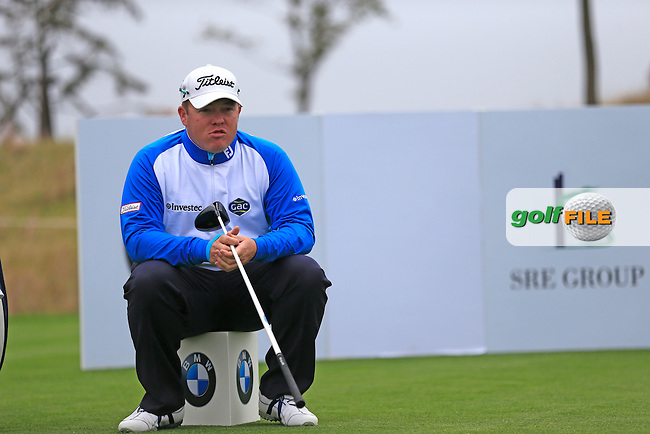 George Coetzee (RSA) waits on the 14th tee during Friday's Round 2 of the 2013 BMW Masters presented by SRE Group held at Lake Malaren Golf Club, Shanghai, China. 25th October 2013.<br /> Picture: Eoin Clarke/www.golffile.ie