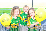 Julie, Donnacha and Emma O'Sullivan Tousist at the Kerry team training in Fitzgerald Stadium, Killarney on Saturday t .