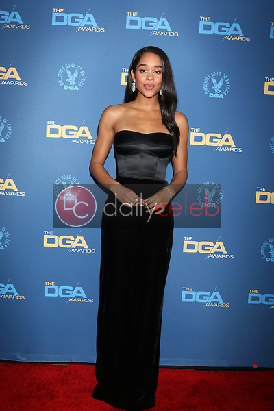 Laura Harrier<br /> at the 71st Annual Directors Guild Of America Awards, Ray Dolby Ballroom, Hollywood, CA 02-02-19<br /> David Edwards/DailyCeleb.com 818-249-4998
