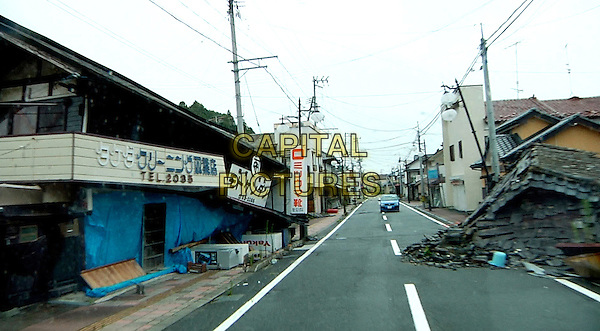 SCENE - Futaba, Japan, evacuated after  the March 11, 2011  earthquake, tsunami, and ensuing nuclear disaster at Fukushima Daiichi Power Plant<br /> in Nuclear Nation (2012) <br /> *Filmstill - Editorial Use Only*<br /> CAP/FB<br /> Image supplied by Capital Pictures