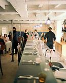 FRANCE, Chablis, Burgundy, people having drinks in bar, Laroche Restaurant