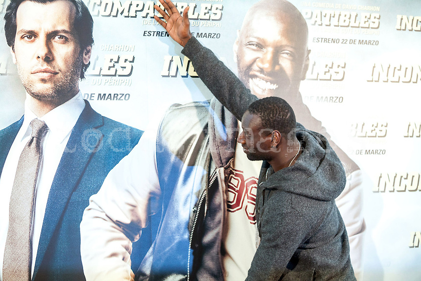 "Omar Sy  was at the photocall during the press day for the French comedy, ""Incompatibles""  ( De l'autre cÙtÈ du pÈriph) at the Hotel Me, Madrid"