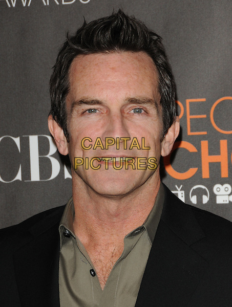 JEFF PROBST.Arrivals at the 2010 People's Choice Awards held at the Nokia Theater L.A. Live in Los Angeles, California, USA. .January 6th, 2010.headshot portrait black green.CAP/RKE/DVS.©DVS/RockinExposures/Capital Pictures.