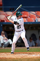 Dartmouth Big Green first baseman Michael Ketchmark (27) at bat during a game against the Lehigh Mountain Hawks on March 20, 2016 at Chain of Lakes Stadium in Winter Haven, Florida.  Dartmouth defeated Lehigh 5-4.  (Mike Janes/Four Seam Images)