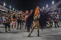 Rio de Janeiro (RJ), 23/02/2020 -Carnaval - Rio - Apresentacao da escola Grande Rio no primeiro dia de desfile das escolas de samba do Grupo Especial do Rio de Janeiro neste domingo (23) na Marques de Sapucai. Na foto a atriz Monique Alfra (Foto: Ellan Lustosa/Codigo 19/Codigo 19)