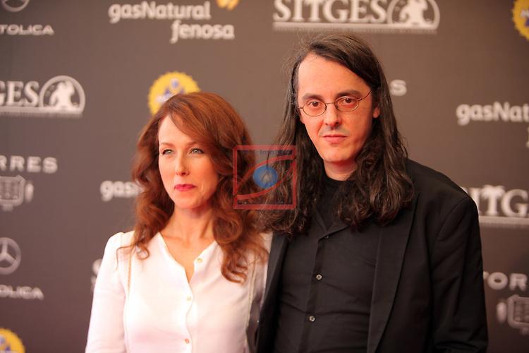 49 Festival Internacional de Cinema Fantastic de Catalunya-Sitges 2016.<br /> Photocall El Ataud de Cristal.<br /> Paola Bontempi &amp; Haritz Zubillaga.