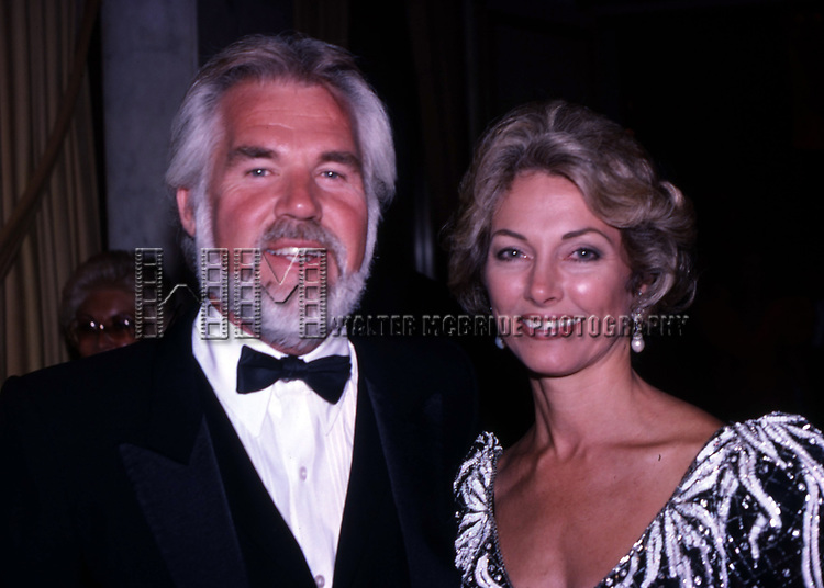 Kenny Rogers and Marianne Rogers on September 1, 1984 in New York City