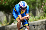 Swedish National Champion Tobias Ludvigsson (SWE) Groupama-FDJ in action during the opening Prologue of the 2018 Criterium du Dauphine running 6.6km around Valence, France. 3rd June 2018.<br /> Picture: ASO/Alex Broadway | Cyclefile<br /> <br /> <br /> All photos usage must carry mandatory copyright credit (&copy; Cyclefile | ASO/Alex Broadway)