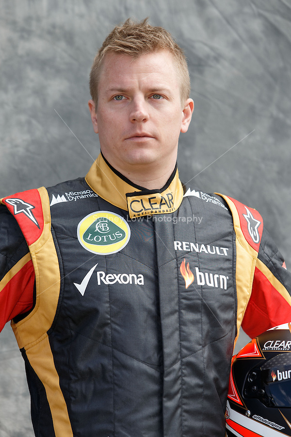 Kimi Raikkonen (FIN) from the Lotus F1 Team poses for his portrait on day one of the 2013 Formula One Rolex Australian Grand Prix at the Albert Park Circuit in Melbourne, Australia.