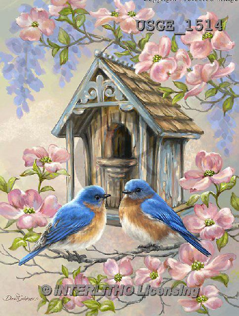 Dona Gelsinger, STILL LIFE STILLLEBEN, NATURALEZA MORTA, flowers, Blumen, flores, paintings+++++,USGE1514,#I#,#F# birdhouse