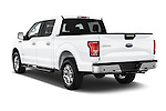 Car pictures of rear three quarter view of a 2015 Ford F-150 XLT SuperCrew 145-in Door Pickup Angular Rear