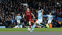 Manchester City's Gabriel Jesus scores the opening goal <br /> <br /> Photographer Rich Linley/CameraSport<br /> <br /> UEFA Champions League Quarter-Final Second Leg - Manchester City v Liverpool - Tuesday 10th April 2018 - The Etihad - Manchester<br />  <br /> World Copyright &copy; 2017 CameraSport. All rights reserved. 43 Linden Ave. Countesthorpe. Leicester. England. LE8 5PG - Tel: +44 (0) 116 277 4147 - admin@camerasport.com - www.camerasport.com