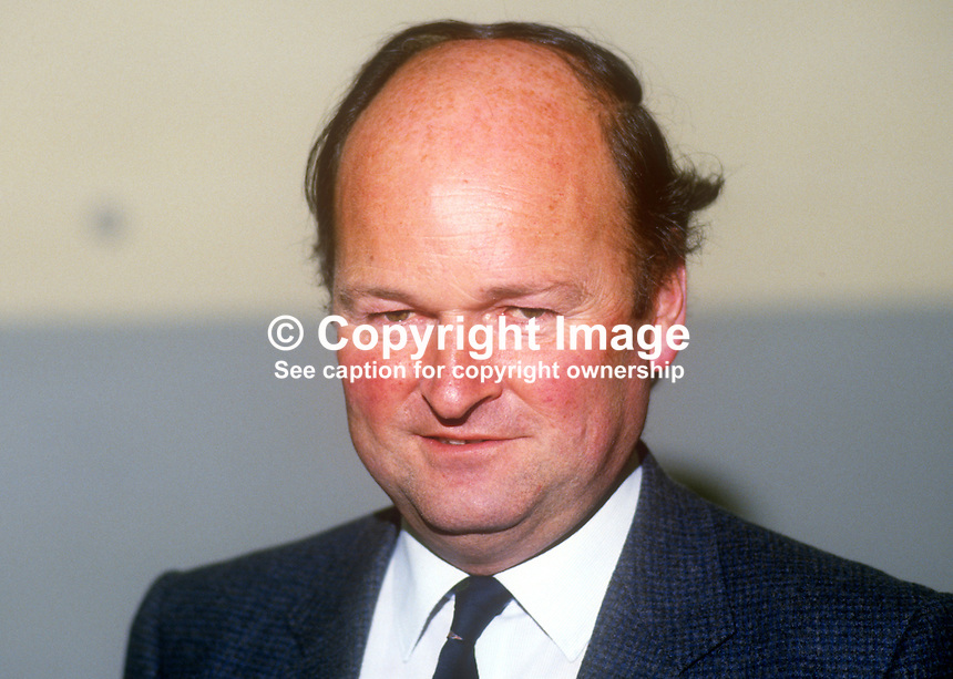 Sir James Goold, prominent member, Scottish Conservative Party, UK, May, 1986, 19860501JG<br />