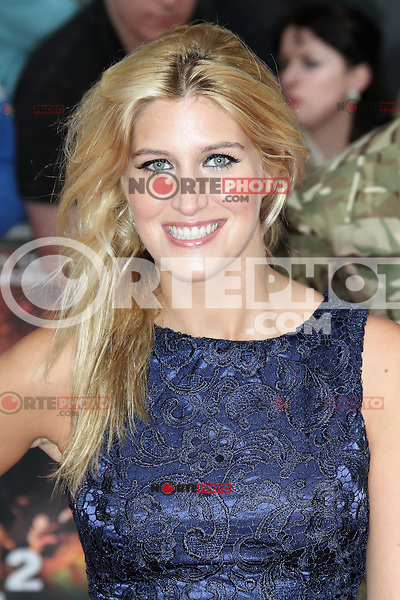 LONDON - AUGUST 13: Francesca Hull attended the UK Film Premiere of 'The Expendables 2', Leicester Square, London, UK. August 13, 2012. (Photo by Richard Goldschmidt) /NortePhoto.com<br /> <br />  **CREDITO*OBLIGATORIO** *No*Venta*A*Terceros*<br /> *No*Sale*So*third* ***No*Se*Permite*Hacer Archivo***No*Sale*So*third*