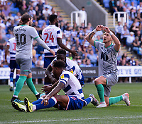 Blackburn Rovers' Lewis Holyby (right) shows his frustration after coming close to scoring<br /> <br /> Photographer David Horton/CameraSport<br /> <br /> The EFL Sky Bet Championship - Reading v Blackburn Rovers - Saturday 21st September 2019 - Madejski Stadium - Reading<br /> <br /> World Copyright © 2019 CameraSport. All rights reserved. 43 Linden Ave. Countesthorpe. Leicester. England. LE8 5PG - Tel: +44 (0) 116 277 4147 - admin@camerasport.com - www.camerasport.com
