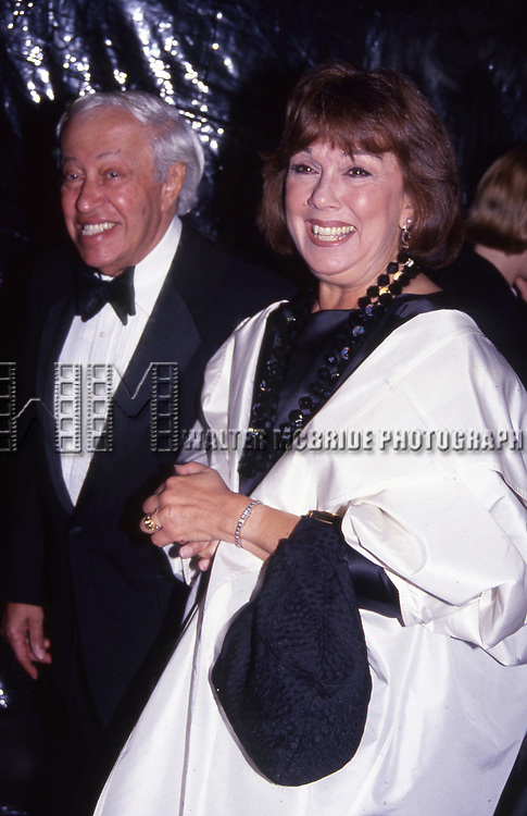 Adolph Green and Phyllis Newman attend a Richard Avedon Book Party on September 27, 1993 in New York City.