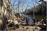 NWA Democrat-Gazette/FLIP PUTTHOFF <br /> Lincoln Lake is a scenic destination  Nov. 16 2018  for climbing, paddling and hiking, as Rogers High School outdoor education students have learned.