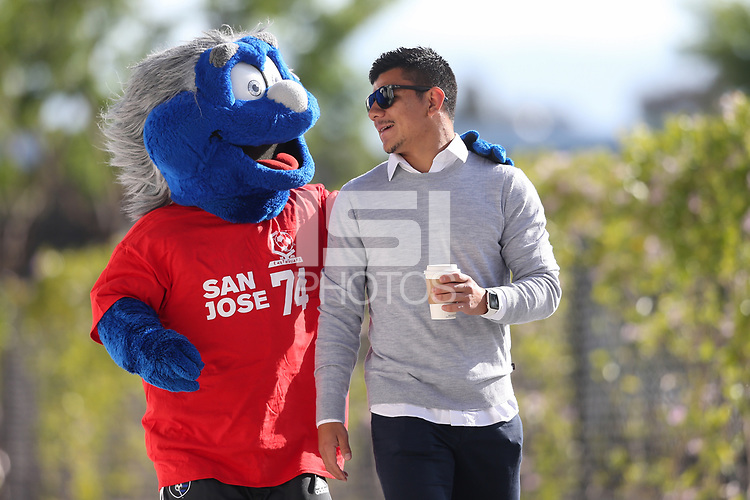 San Jose, CA - Saturday May 19, 2018: Q\, Nick Lima during a Major League Soccer (MLS) match between the San Jose Earthquakes and D.C. United at Avaya Stadium.
