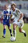 Abby Wambach at SAS Stadium in Cary, North Carolina on 4/5/03 during a game between the Carolina Courage and Washington Freedom. The Washington Freedom won the game 2-1.