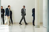 Bundesverkehrsminister Andreas Scheuer waehrend der Sitzung der CSU-Fraktion im Deutschen Bundestag.<br /> Nachdem es zwischen der CDU und der CSU zum Streit ueber den Umgang mit Fluechtlingen gab. Die Sitzung des Deutschen Bundestag wurde aufgrund dieses Streit auf Antrag der CDU/CSU-Fraktion fuer mehrere Stunden unterbrochen. Die Fraktionen von CDU und CSU tagten getrennt.<br /> 14.6.2018, Berlin<br /> Copyright: Christian-Ditsch.de<br /> [Inhaltsveraendernde Manipulation des Fotos nur nach ausdruecklicher Genehmigung des Fotografen. Vereinbarungen ueber Abtretung von Persoenlichkeitsrechten/Model Release der abgebildeten Person/Personen liegen nicht vor. NO MODEL RELEASE! Nur fuer Redaktionelle Zwecke. Don't publish without copyright Christian-Ditsch.de, Veroeffentlichung nur mit Fotografennennung, sowie gegen Honorar, MwSt. und Beleg. Konto: I N G - D i B a, IBAN DE58500105175400192269, BIC INGDDEFFXXX, Kontakt: post@christian-ditsch.de<br /> Bei der Bearbeitung der Dateiinformationen darf die Urheberkennzeichnung in den EXIF- und  IPTC-Daten nicht entfernt werden, diese sind in digitalen Medien nach &szlig;95c UrhG rechtlich geschuetzt. Der Urhebervermerk wird gemaess &szlig;13 UrhG verlangt.]