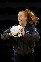 01.09.2017  Samantha Sinclair during the Silver Ferns training session ahead of the Quad Series at the ILT Stadium Southland in Invercargill. Mandatory Photo Credit ©Copyright photo: Dianne Manson/Michael Bradley Photography