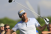 Marcel Siem (GER) tees off the 10th tee during Thursday's Round 1 of the 2016 Portugal Masters held at the Oceanico Victoria Golf Course, Vilamoura, Algarve, Portugal. 19th October 2016.<br /> Picture: Eoin Clarke   Golffile<br /> <br /> <br /> All photos usage must carry mandatory copyright credit (© Golffile   Eoin Clarke)