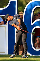 Shubhankar Sharma (IND) on the 16th tee during the final round of the DP World Tour Championship, Jumeirah Golf Estates, Dubai, United Arab Emirates. 18/11/2018<br /> Picture: Golffile | Fran Caffrey<br /> <br /> <br /> All photo usage must carry mandatory copyright credit (© Golffile | Fran Caffrey)