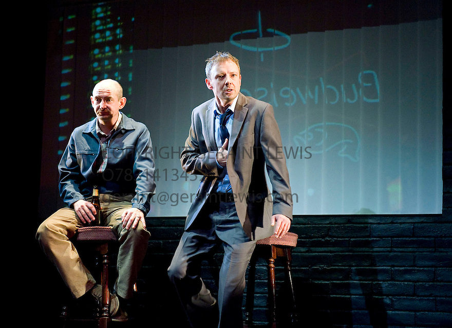 Speaking in Tongues by Andrew Bovell,directed by Toby Frow.With Ian Hart as John , John Simm as Leon. Opens at  The Duke of York's Theatre on 28/9/09.  Credit Geraint Lewis