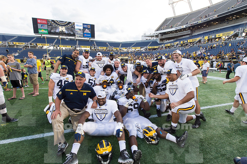 The University of Michigan football team beat the University of Florida, 41-7, at the Citrus Bowl in Orlando, Fla., on Jan. 1, 2016.