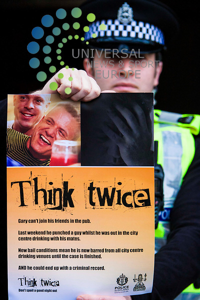 The launch of the Police Scotland and COPFS 'Think Twice Campaign'. Chief Superintendent Matt Richards from Police Scotland, Procurator Fiscal for Summary Cases in East of Scotland, Andrew Richardson and Justice Secretary Kenny MacAskill attended to help launch the campaign<br /> Picture: Duncan McGlynn/Universal News And Sport (Scotland) 20/12/2013.