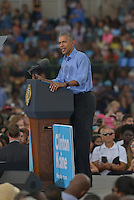 KISSIMMEE, FL - NOVEMBER 06: President Barack Obama Campaign for Hillary Clinton to a crowd of 11,000 supporters join by Award-Winning Artist Stevie Wonder at Osceola County Stadium on Sunday, November 6, 2016 in Kissimmee, Florida. President Obama continued to stomp for Hillary with two day left to the election. Credit: MPI10 / MediaPunch