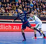 Christian SCHAEFER (#11 SG Bietigheim) \ beim Spiel in der Handball Bundesliga, SG BBM Bietigheim - SC DHfK Leipzig.<br /> <br /> Foto &copy; PIX-Sportfotos *** Foto ist honorarpflichtig! *** Auf Anfrage in hoeherer Qualitaet/Aufloesung. Belegexemplar erbeten. Veroeffentlichung ausschliesslich fuer journalistisch-publizistische Zwecke. For editorial use only.