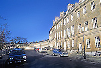 Bath: Approach to Lansdowne Crescent.
