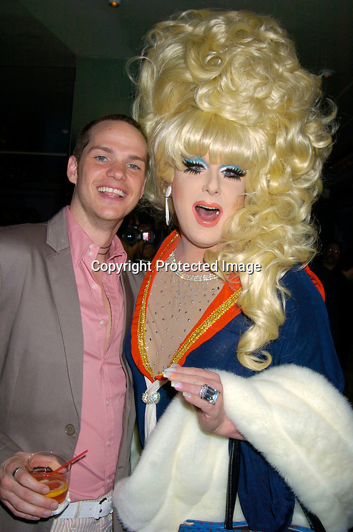 "Peter Paige and Lady Bunny..at the New York Premiere party for the new season of   Showtimes""Queer As Folk""  which starts on April 18, 2004. ..The party was at The Gramercy Park Hotel on March 31, 2004. ..Photo by Robin Platzer, Twin Images"